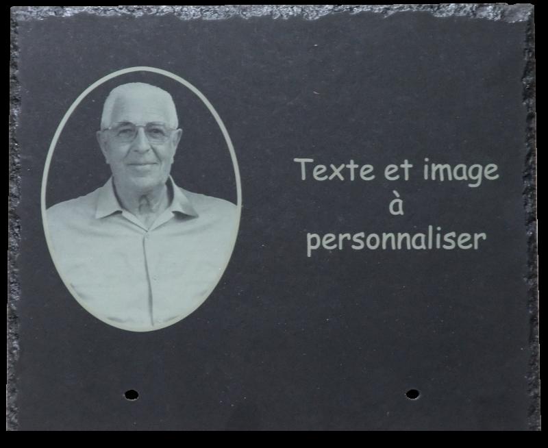 Plaque fun raire personnalis e artlaser 85 - Medaillon funeraire avec photo ...